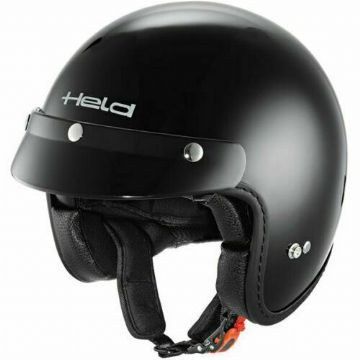 Held Black Bob Gloss Black Motorbike Motorcycle Urban Open Face Helmet